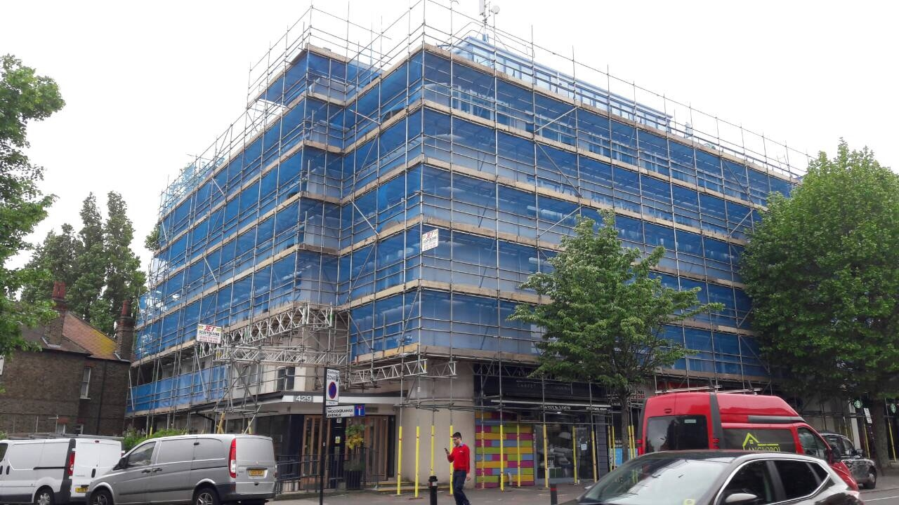 Commercial Scaffolding London project