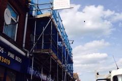 London scaffolding project