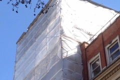 Scaffolding temporary roof