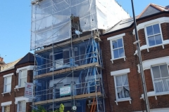 Temporary roof London scaffolding project